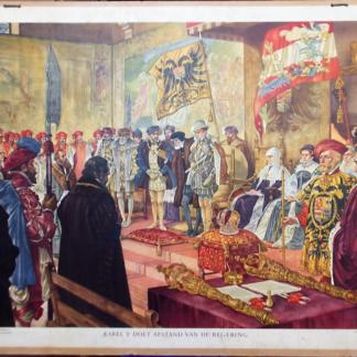 Karel V doet afstand van de regering