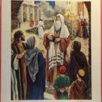 """Bellarminus-bijbelplaten nr. 35  """"Opdracht in de tempel"""""""