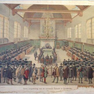 Eene vergadering van de nationale Synode te Dordrecht (verkocht)