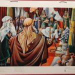 """Bellarminus-bijbelplaten nr.15 """"Mozes voor de Farao"""""""