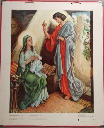 """Bellarminus-bijbelplaten nr. 31 """"Annunciatie"""""""