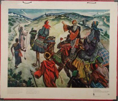 """Bellarminus-bijbelplaten nr. 34 """"De Wijzen"""""""