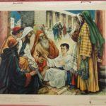 """Bellarminus-bijbelplaten nr. 36  """"Jesus blijft in de tempel achter"""""""