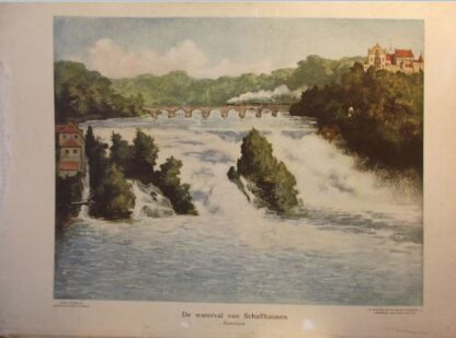 De waterval van Schafhausen Duitschland