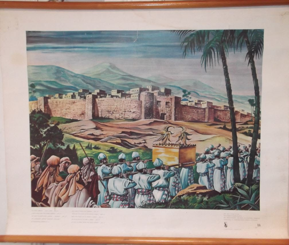 """Bellarminus-bijbelplaten nr. 18""""Ik lever Jericho...aan u over"""""""