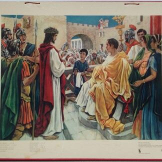"""Bellarminus-bijbelplaten nr.50 """"Jesus voor Pilatus"""""""