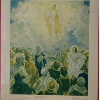 """Bellarminus-bijbelplaten nr.54 """"Hemelvaart"""""""