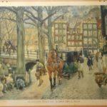 Stadsleven tegen het midden der 19e eeuw(verkocht)